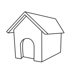 dog house isolated vector image