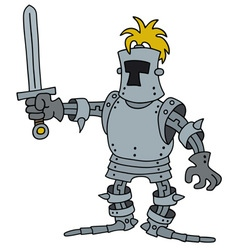 Funny knight with a sword vector image vector image