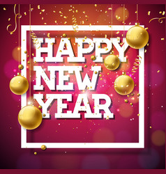 happy new year 2018 with shiny vector image