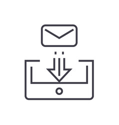 mail box post linear icon sign symbol on vector image vector image