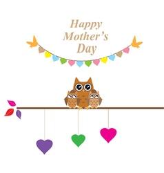 owl mom vector image vector image