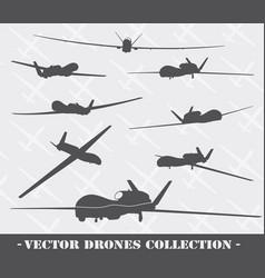 weapon drones set vector image vector image