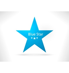 Blue abstract star shape vector image vector image