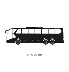 Bus black silhouette on a white background vector image vector image