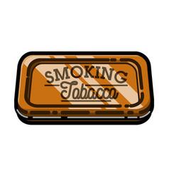 Color vintage tobacco shop emblem vector