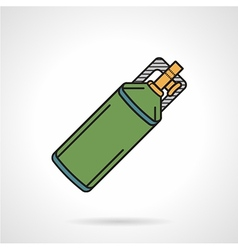 Flat icon for paintball co2 cylinder vector image vector image