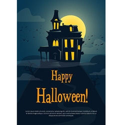 Halloween background with spooky castle vector image vector image