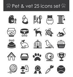outline web icon set - pet vector image vector image