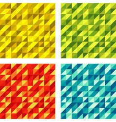 Set of Colorful Geometric textures raster vector image vector image