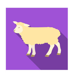 Sheep icon in flat style isolated on white vector