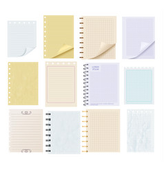 pieces of colorful blank note paper set vector image