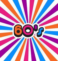 60s Party Background vector image vector image