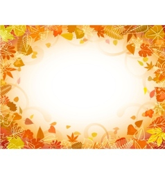 autumn leaf frame vector image