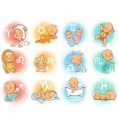 baby horoscope vector image