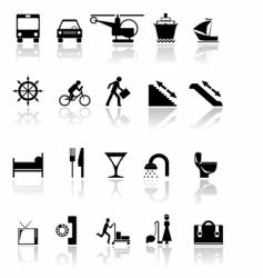 black icons vector image