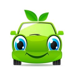 eco friendly car vector image vector image