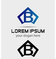 Letter B logo icon design template vector image vector image