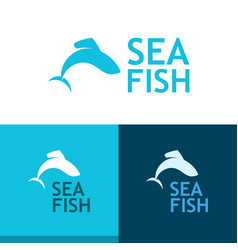 logo with grayling vector image vector image