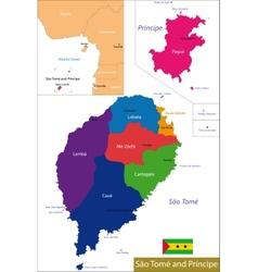 Sao Tome and Principe map vector image