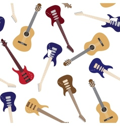 Seamless pattern with guitars vector image vector image