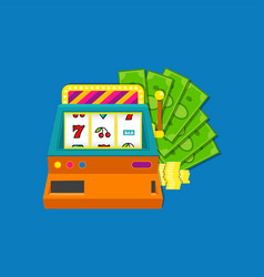 slot machine flat with bundle vector image