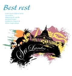 Travel Sri Lanka grunge style vector image vector image