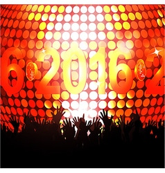 2016 glowing lights and crowd vector image