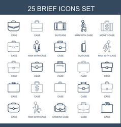 25 brief icons vector image