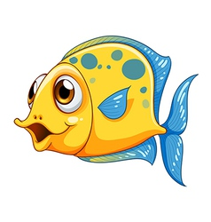 A small yellow fish vector image