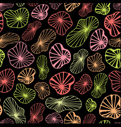 abstract shapes neon color background black vector image
