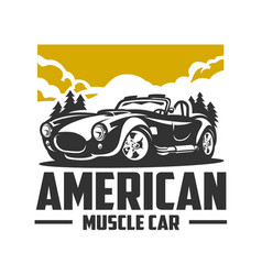 American muscle car cobra design isolated vector