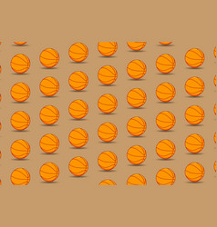 basketball ball - pattern vector image
