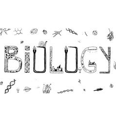 Biology Doodles vector image