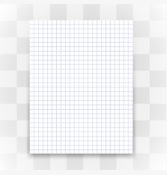 blank white paper sheet on transparent background vector image