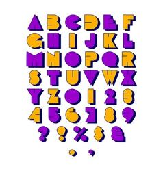 Block Font Retro vector