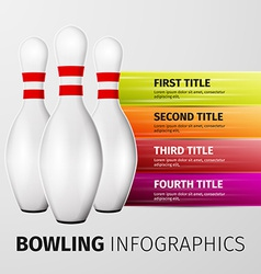 bowling infographics vector image