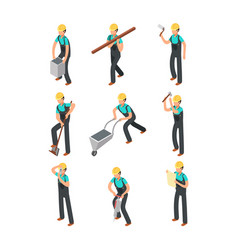 Builder workers construction professionals vector