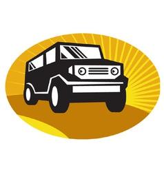 Car sports utility vehicle suv vector