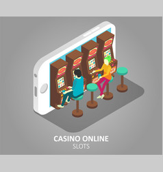 Casino online mobile slots vector