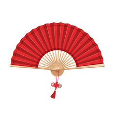 Chinese hand fan vector
