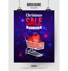 Christmas sale shining typographical background vector image