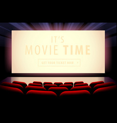 Cinema screen view vector