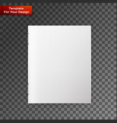 Close up of a leaflet blank white paper vector