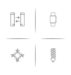 devices simple linear icon setsimple outline icons vector image