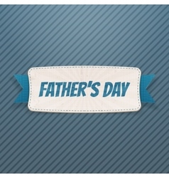Fathers Day Banner with greeting Ribbon and Text vector image