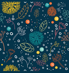 Floral seamless pattern colorful ornamental vector