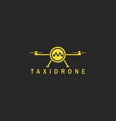 Flying taxi done logo mockup minimal style vector