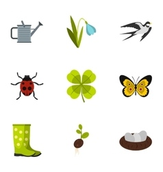 Garden maintenance icons set flat style vector