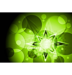 Green technical design vector image
