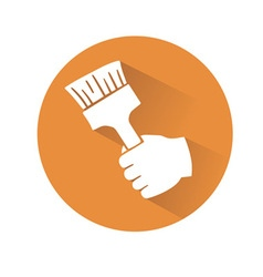 hand with brush vector image